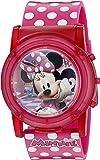 Disney 女孩石英塑料休闲手表,颜色:粉色(型号:MBT3714SR)