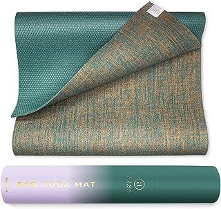 Natural Jute 瑜伽垫环保*双面有机黄麻 每件 - 携带弹力带 - 防滑* - 超长 182.88 cm - 5 mm 厚 - 所有类型瑜伽 - 素食主义者