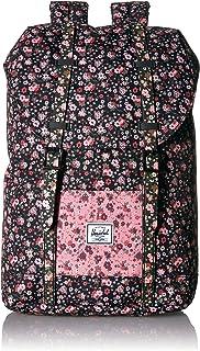 Herschel 儿童 Retreat 背包 Multi Ditsy Floral Black/Flamingo Pink 青少年