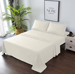 Goza Bedding 4 件套超细纤维床单套装 米色 King