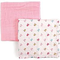 Luvable Friends 2片装棉襁褓包巾 Birdies 40''X40''