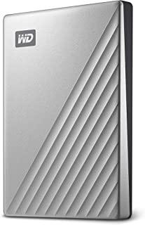Western Digital 1TB My Passport Ultra 银色 便携式外置硬盘 USB-C-WDBC3C0010BSL-WESN