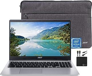 2021 高级宏碁 Chromebook 15.6 英寸高清笔记本电脑灯光计算机,Intel Celeron N4000,4GB RAM,32GB eMMC,高清网络摄像头,Intel UHD Graphics 600,12 小时以上电池,套,...
