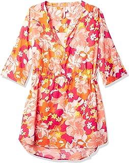 Seafolly 女童沙滩游泳罩衫连衣裙,七分袖