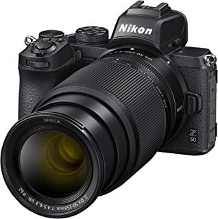 Nikon 尼康 Z50 + Z DX 16-50 毫米 + Z DX 50-250 毫米无反相机套件(209 点混合 AF,高速图像处理,4K UHD 电影,高分辨率 LCD 显示器)VOA050K002