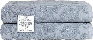 Chortex Premier 系列土耳其棉质浴巾(2 件装),2 件装,石墨色
