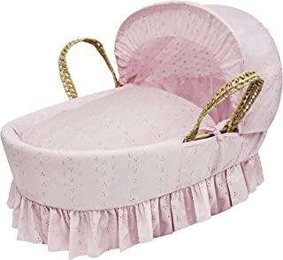 Kinder Valley Broderie Anglaise 摩西篮(白色) Pink Broderie Anglaise 86 x 47 x 30cm