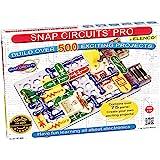 Snap Circuits Pro SC-500 电子探索套件|超过500个项目|全彩色项目手册| 75+卡扣电路零件…