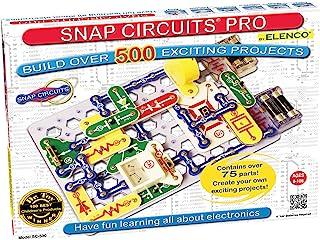 Snap Circuits Pro SC-500 电子探索套件|超过500个项目|全彩色项目手册| 75+卡扣电路零件| STEM儿童教育玩具| 适合8岁+