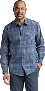 ExOfficio 男士Okanagan 迷你格子长袖衬衫