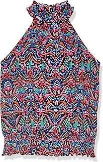 Fit 4 U 女式遮阳伞罩衫高领女衬衫游泳上衣