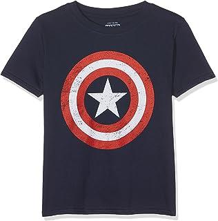 Marvel 男童美国队长复古 T 恤