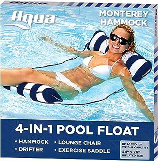 "Aqua Leisure-Domestic Toys 4-in-1 Monterey Hammock Aqua Lounge, Navy, 10.25"" x 11.5"" x 1.5"""