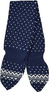 maximo 男婴带插环和圆点图案围巾,蓝色(*蓝/浅灰色。4888),(制造商尺寸:均码)