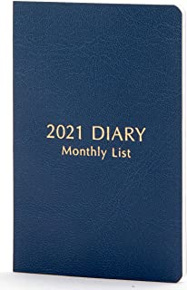 Raymay藤井 姓名卡日记本 记事本 2021年 名片尺寸 月历 藏青色 RFDR2189K 2020年12月开始