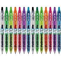 PILOT 百乐 B2P Colors Bottle to Pen 可重复使用,可回收滚动式中性笔,由回收瓶,细点,多种…