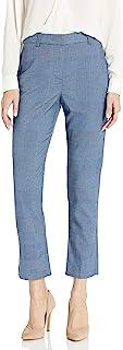Rebecca Taylor 女式格子西装裤,前褶皱