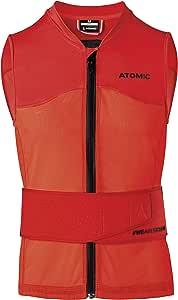 Atomic 男式滑雪防护背心  Live Shield 系列背心 AMID M,带 AMID Body 护垫 红色 L