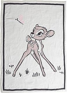 Barefoot Dreams CozyChic Disney Bambi 毛毯,抱毯,百合114.32 厘米 x 152.40 厘米