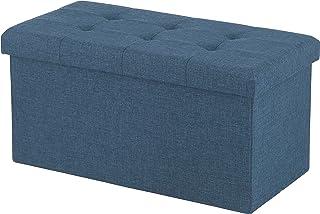 不二贸易 收纳椅 折叠 宽60厘米 藏青色 脚凳 承重80千克 HANTO 86141