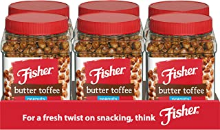 FISHER Snack Butter Toffee Peanuts, 42 oz (Pack of 6)