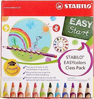 彩色铅笔 – STABILO EASYcolors 48 件组合装 12 只左手和 36 只右手使用