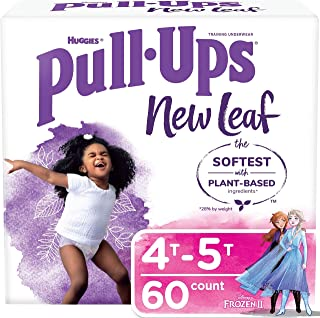 Pull-Ups New Leaf 女孩训练裤,4t-5t, 14 Ct, 14 Count High Count Pack 4T-5T
