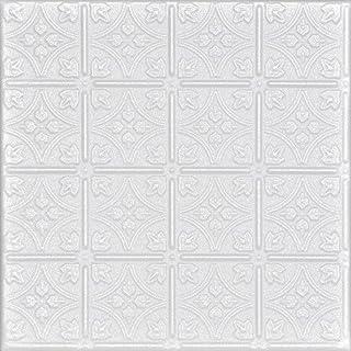 A la Maison Ceilings R125pw-8 Emma's 花朵天花板砖,白色