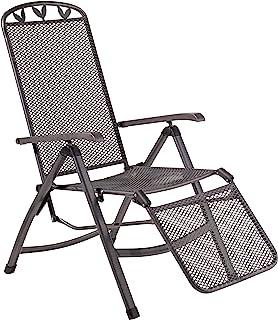 greemotion RELAX Chair 折叠椅子庭院椅子57x 67x 109cm 5positions/工程师钢套装熨斗灰色