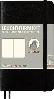 LEUCHTTURM1917 灯塔口袋型无格笔记本黑色软封皮(A6)