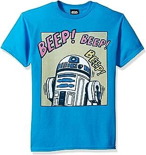 Star Wars 男孩 Big R2d2 流行漫画声音图案 T 恤