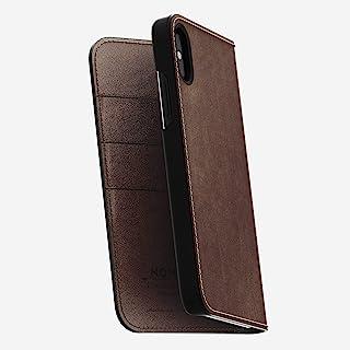 NOMAD 外壳皮革膜适用于 iPhone XNTX iPhone X 单色