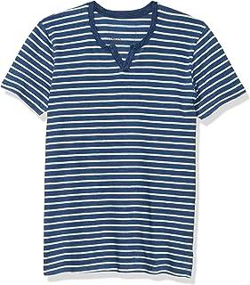 Splendid Mills 男式短袖亨利条纹 T 恤