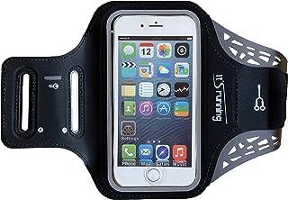 It's running 手机臂带 4.7 英寸手机臂包,智能手机臂包,黑色,纯色