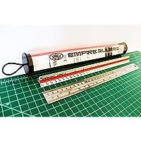 Empire Rulers 30.48 厘米专业级三角建筑师比例铝制颜色编码尺 + 重型圆边不锈钢尺带转换桌(激光蚀刻刻…