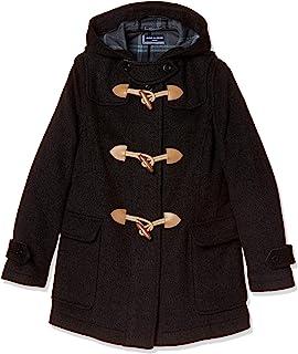 Olive Deo 袖口学校 带拉链双排扣粗呢大衣 1J90012 女士