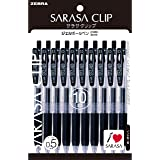 ZEBRA 斑马 中性圆珠笔 SARASA CLIP 0.5 黑色 10支装 P-JJ15-BK10