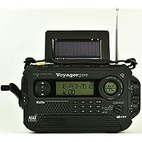 Kaito KA600L 5 向供电紧急 AM/FM/SW NOAA 天气报警收音机,带太阳能,Dynamo 曲轴,手电…