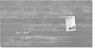 Sigel 現代磁性玻璃板,混凝土,36 英寸 x 18 英寸 (sgboard36-co)