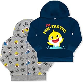Nickelodeon 尼克国际儿童频道男孩 2 件套婴儿鲨鱼套头连帽衫和全拉链连帽夹克