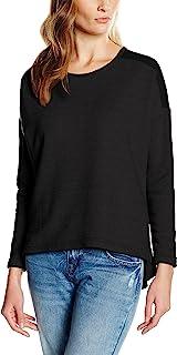 都市经典女式女式超大雪纺圆领运动衫