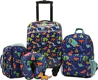 Travelers Club 女童 5 件套儿童行李旅行套装 恐龙
