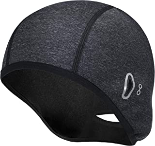Skull Caps 女式冬季自行车帽特别设计太阳镜防水/防风保暖羊毛保暖帽头盔内衬帽灰色适用于徒步滑雪骑行