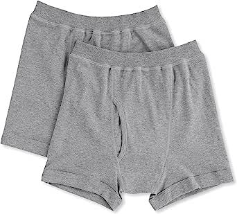 GUNZE 郡是 男士 平角裤 柔软内衣 棉100% 抗菌消臭 前开口 两条装 SV61902