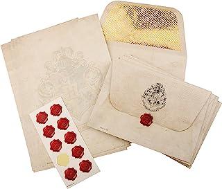 Harry Potter Hogwarts 信纸套装 20 张 A5 记事纸 10 个信封 带霍格沃茨徽章 10 张蜡贴纸