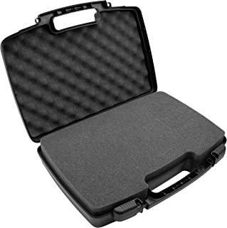 CASEMATIX 硬质旅行箱,带泡沫和挂锁环 – 可定制泡沫适合 Pico 移动投影仪、录音机、麦克风等小型电子产品和配件,*大可达 14.5 x 7.5 x 2.75 英寸(约 36.8 x 19.0 x 7.0 厘米)