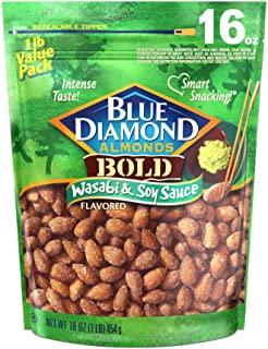Blue Diamond Almonds 杏仁 芥末酱油味 16盎司/约453.59克(1件装)