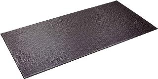 Supermats 重型设备垫 13GS 美国制造,适用于室内自行车、躺卧自行车、直立锻炼自行车和踏步器(2.5 英尺 x 5 英尺)(76.2 厘米 x 152.4 厘米),黑色