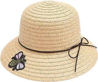 MIRMARU 女式夏季吸管太阳海滩软毡帽