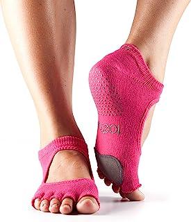 toesox 女式 plie Half 头 GRIP 适用于 yoga ,普拉提, barre ,舞蹈,脚趾袜皮革鼠标垫